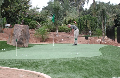 Synthetic Turf Mini Golf Course