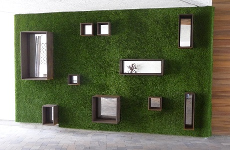 Synthetic Turf Creative Wall at Hotel