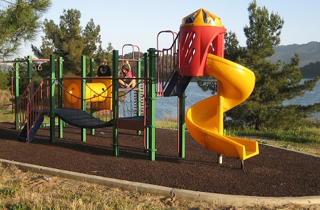 bound rubber mulch playground surface parks and play areas