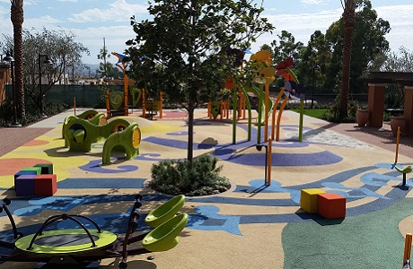 USSA Polystar Rubber playground surface with hills and mounds