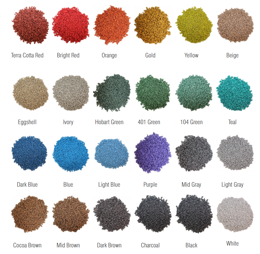 EPDM-rubber-granule-color-selection