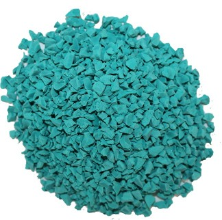 Teal EPDM rubber materials