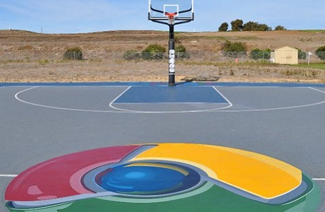 Custom Basketball Court at Google Campus