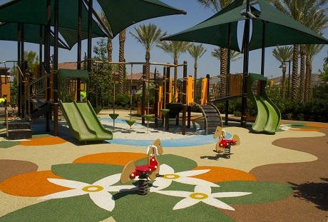 USSA Polystar poured in place playground safety surfacing colorful designs