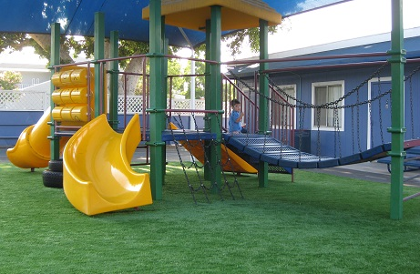 Day Care Center Playground Grass