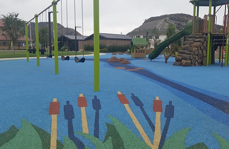 USSA Polystar Beautiful Playground Surfacing Designs for New Communities