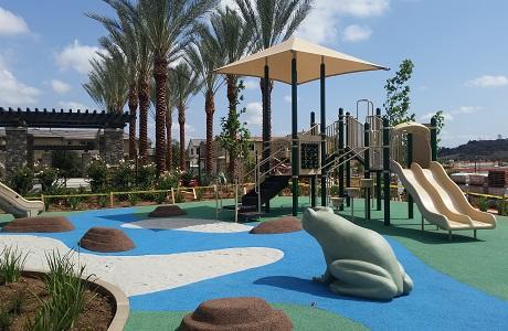 USSA Polystar beautiful playground surface in new community