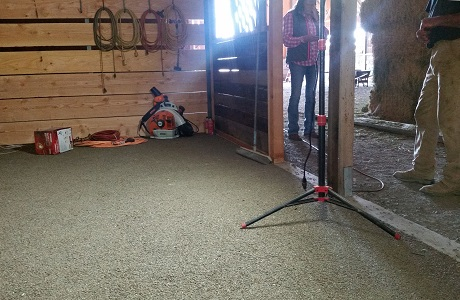 Rubber Flooring in Horse Stable