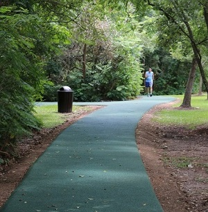 Houstonian Hotel rubber jogging trail