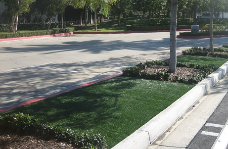 Water Conserving City Landscaping Synthetic Turf