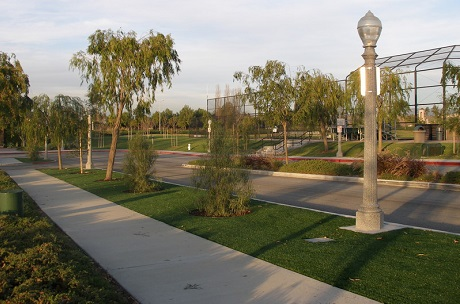 City Streetscapes and Medians with Synthetic Turf