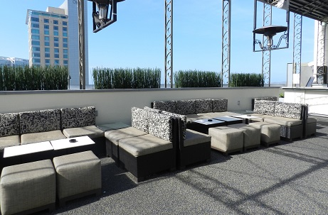 Rubber Flooring Rooftop Bar