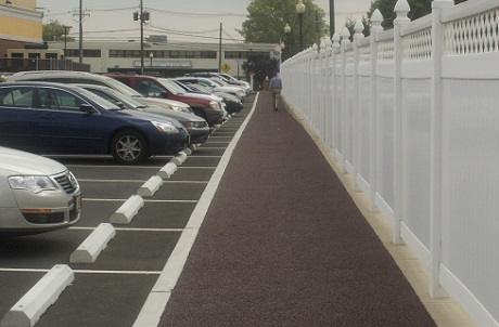 Porous Rubber Pavement Parking Lot for Stormwater Management