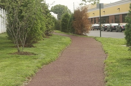 Rubberway porous rubber trails for stormwater management