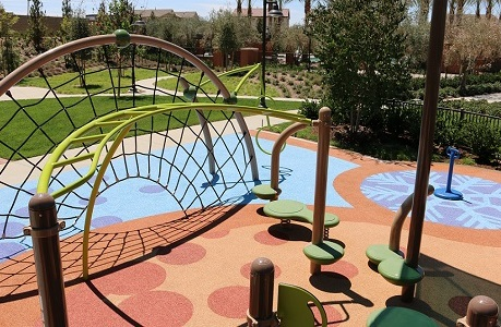 Bright, Colorful Playground Safety Surfacing
