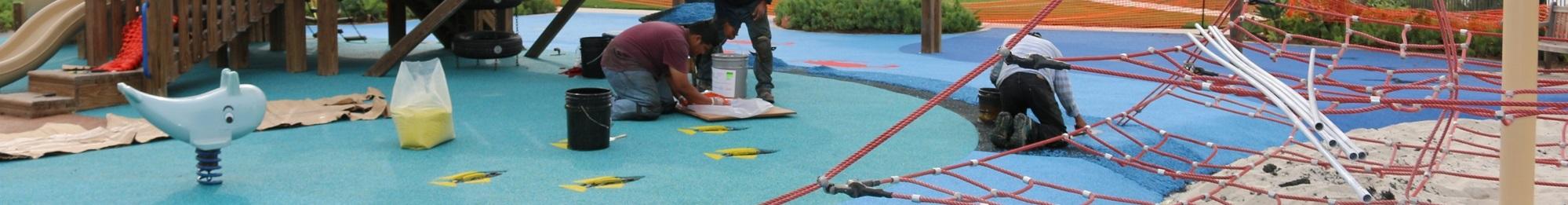 Playground repair materials patch kit