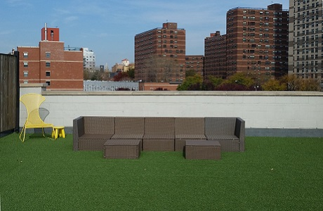 Rooftop Artificial Grass in Brooklyn
