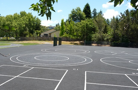 Recycled Rubber Blacktop for School