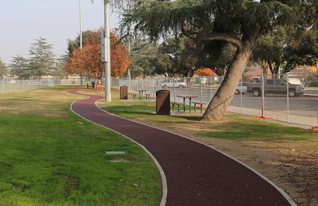 Porous Rubber Park Trail