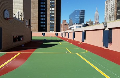 Rooftop Basketball Court in NY
