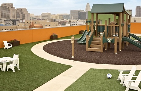 Rooftop Synthetic Turf Playground