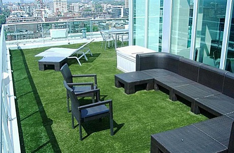 Synthetic Turf Rooftop Landscaping