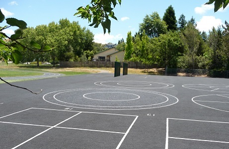Porous Rubber Pavement School Blacktop