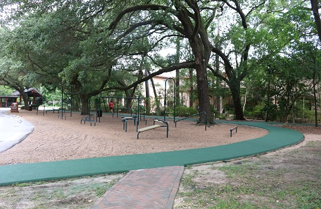 Rubberway Rubber Jogging Trail Around Outdoor Fitness Center