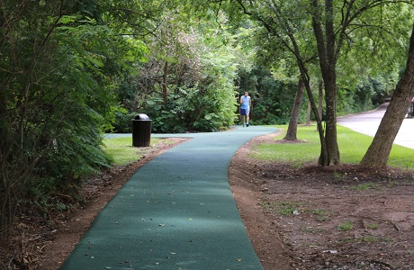 Rubberway Rubber Fitness Trails for Walking and Jogging Through Park