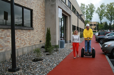 Rubberway rubber sidewalk at Bed Bath and Beyond corporate campus