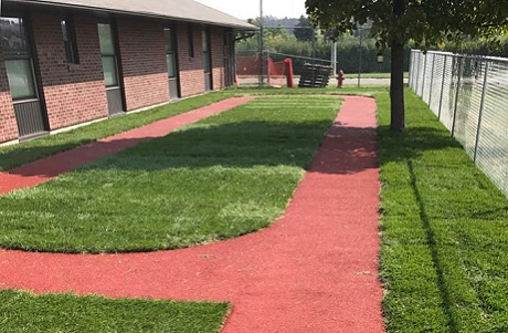 Small Running Track at Health Facility