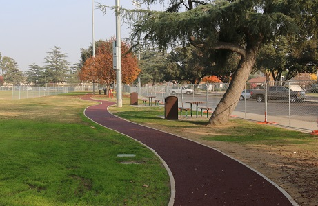 Recycled Rubber Trail in Park