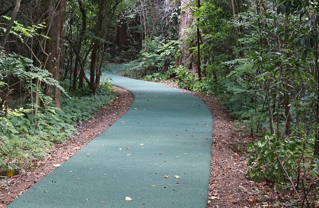 Rubberway non-slip Rubber Walking and Jogging Trail at Houstonian Hotel