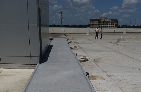 Rubber Path on Rooftop