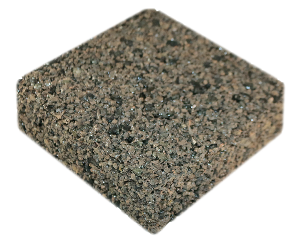 Rubberway rubberrock pervios pavement beige