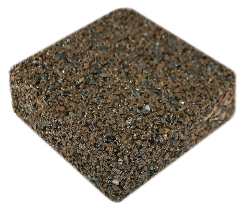 Rubberway rubberrock porous pavement golden brown