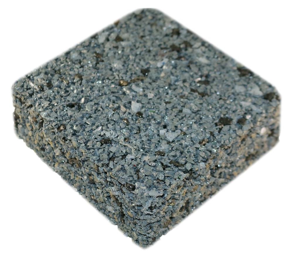 Rubberway rubberrock permeable pavement gray ab