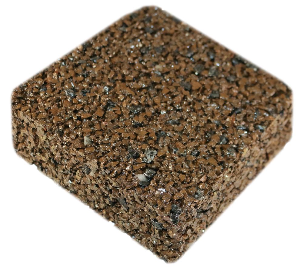 Rubberway rubberrock porous pavement nutmeg
