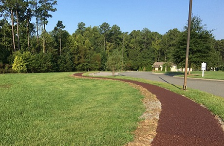 Rubberway Porous Rubber Pavement Path at Senior Living Community