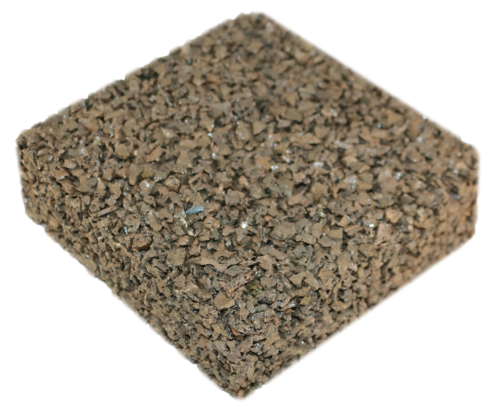Rubberway flexible pervious rubber pavement beige