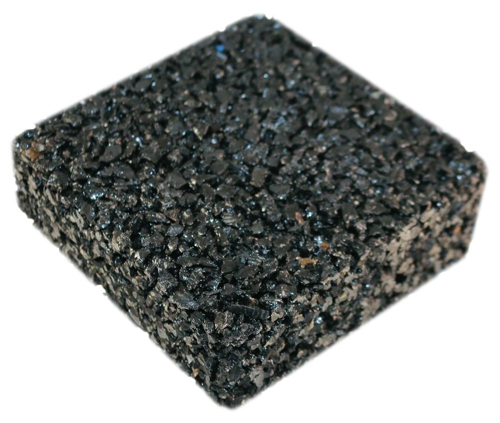 Rubberway flexible porous rubber pavement black