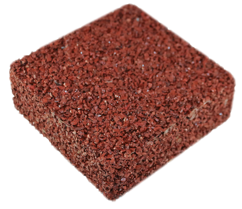 Rubberway flexible pervious rubber pavement brick red