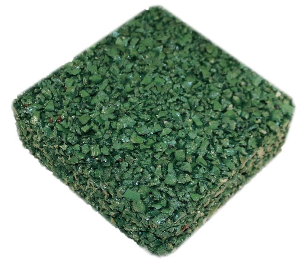 Rubberway flexible pervious rubber pavement green