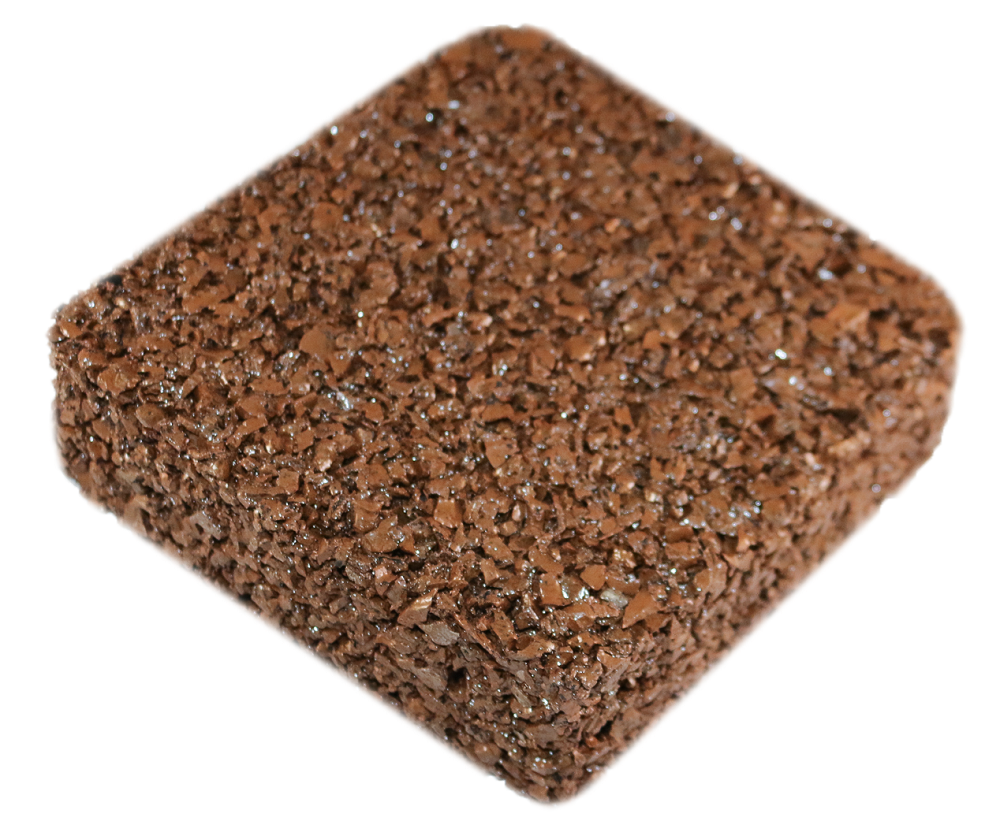 Rubberway flexible porous rubber pavement nutmeg