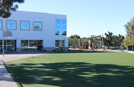 School Synthetic Turf Play Field
