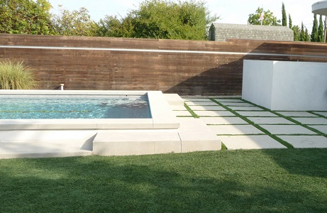 Backyard Pool with Synthetic Grass