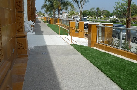 Artificial Grass Around Commercial Property