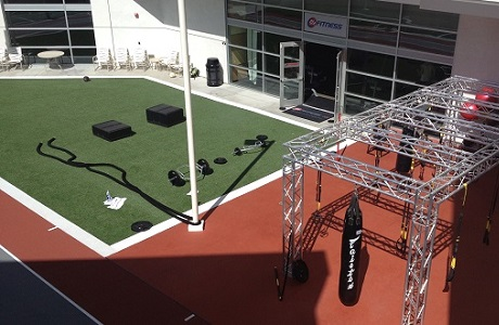 Synthetic Turf for Outdoor Training and Fitness Areas