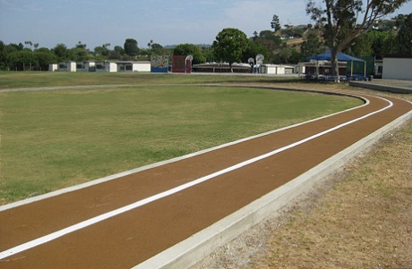 Rubberway Rubber Jogging Track at Elementary School