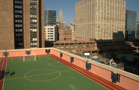 Rooftop Recreational Area in New York City